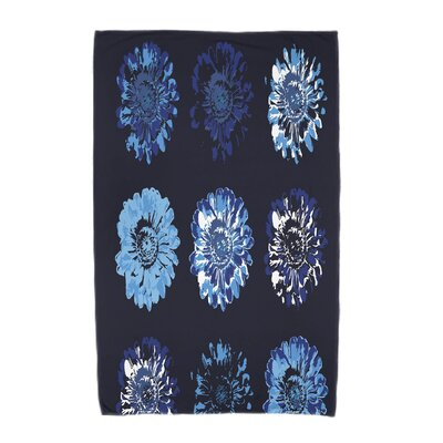 Willa Gypsy Floral 2 Beach Towel Color: Navy Blue