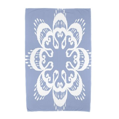 Willa Ikat Mandala Beach Towel Color: Blue