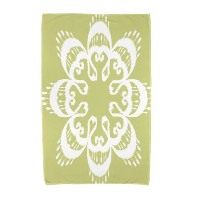 Willa Ikat Mandala Beach Towel Color: Green