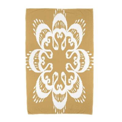 Willa Ikat Mandala Beach Towel Color: Gold