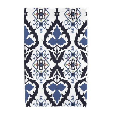 Willa Geometric Print Beach Towel Color: Navy Blue
