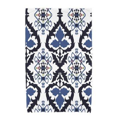 Willa Geometric Print Beach Towel Color: Navy Blue