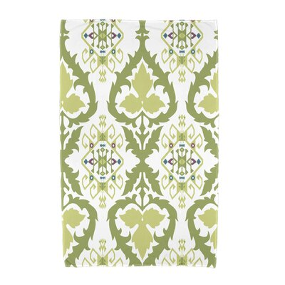 Willa Geometric Print Beach Towel Color: Green