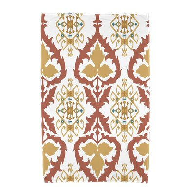Willa Geometric Print Beach Towel Color: Coral