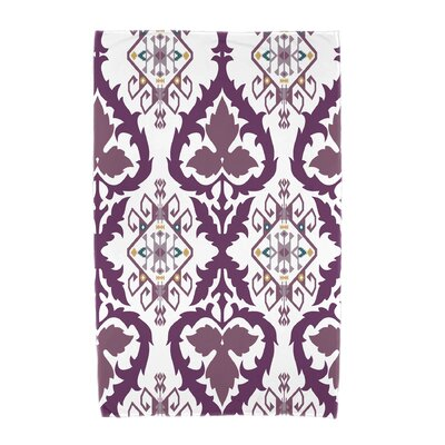 Willa Geometric Print Beach Towel Color: Purple