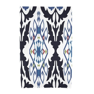 Willa Bombay Medallion Geometric Print Beach Towel Color: Navy Blue