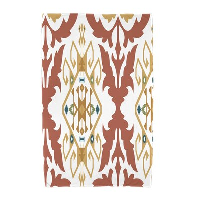 Willa Bombay Medallion Geometric Print Beach Towel Color: Coral