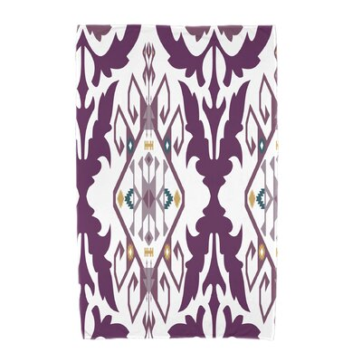 Willa Bombay Medallion Geometric Print Beach Towel Color: Purple