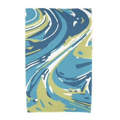 Willa Marble Blend Beach Towel Color: Turquoise