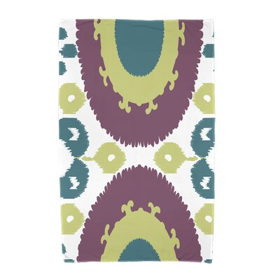 Willa Boho Geometric Print Beach Towel Color: Purple