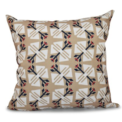 Willa Jodhpur Ditsy Geometric Outdoor Throw Pillow Size: 18 H x 18 W, Color: Taupe