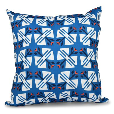 Willa Jodhpur Ditsy Geometric Outdoor Throw Pillow Color: Blue, Size: 20 H x 20 W