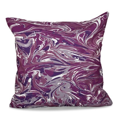 Willa M�lange Geometric Outdoor Throw Pillow Size: 18 H x 18 W, Color: Purple