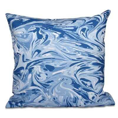 Willa M�lange Geometric Outdoor Throw Pillow Size: 18 H x 18 W, Color: Blue