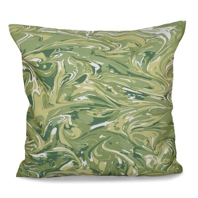Willa M�lange Geometric Outdoor Throw Pillow Size: 18 H x 18 W, Color: Green