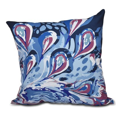 Willa Boho Splash Geometric Outdoor Throw Pillow Color: Blue, Size: 20 H x 20 W