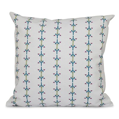 Bridgehampton Stripe Outdoor Throw Pillow Size: 18 H x 18 W, Color: Teal