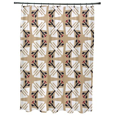 Willa Jodhpur Ditsy Geometric Print Shower Curtain Color: Taupe