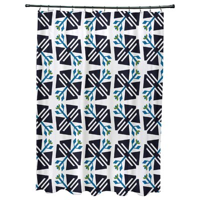 Willa Jodhpur Ditsy Geometric Print Shower Curtain Color: White