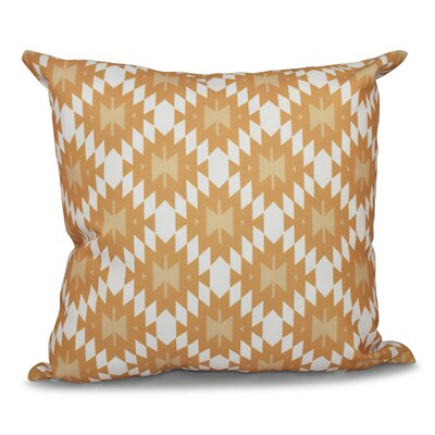 Willa Jodhpur Kilim Geometric Print Throw Pillow Size: 16 H x 16 W, Color: Gold