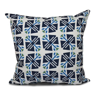 Willa Jodhpur Geometric Print Throw Pillow Size: 26 H x 26 W, Color: White