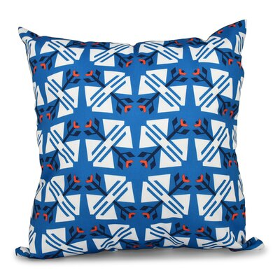 Willa Jodhpur Geometric Print Throw Pillow Color: Blue, Size: 26