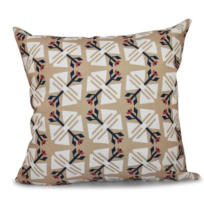 Willa Jodhpur Geometric Print Throw Pillow Size: 16 H x 16 W, Color: Taupe