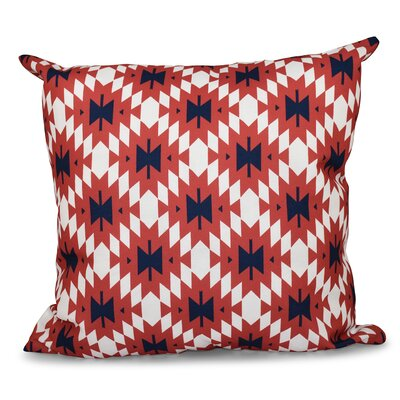Willa Jodhpur Kilim 2 Geometric Print Throw Pillow Size: 16 H x 16 W, Color: Coral