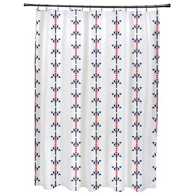 Bridgehampton Stripe Print Shower Curtain Color: Orange
