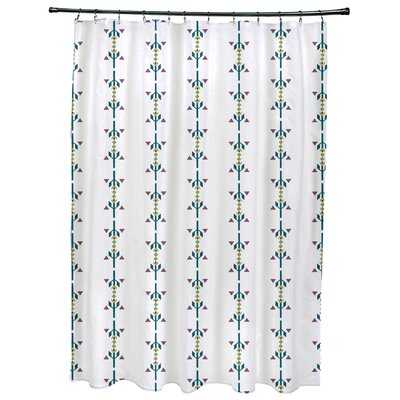 Bridgehampton Stripe Print Shower Curtain Color: Teal