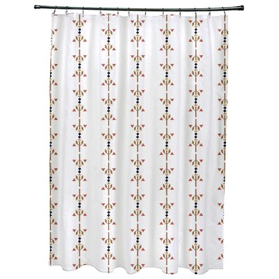 Bridgehampton Stripe Print Shower Curtain Color: Taupe