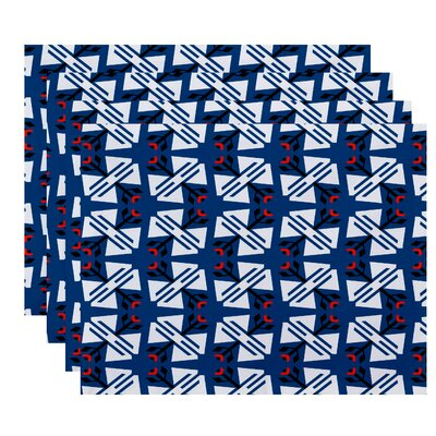 Willa Jodhpur Geometric Print Placemat Color: Blue
