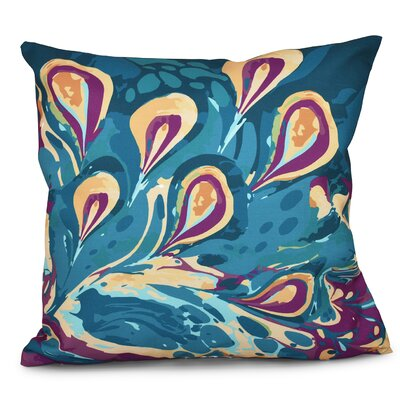 Willa Boho Splash Geometric Print Throw Pillow Size: 20 H x 20 W, Color: Teal
