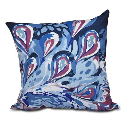 Willa Boho Splash Geometric Print Throw Pillow Size: 16 H x 16 W, Color: Blue