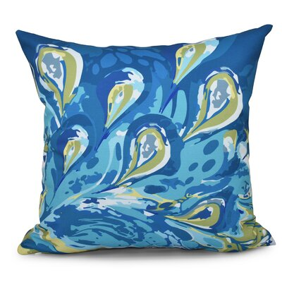Willa Boho Splash Geometric Print Throw Pillow Color: Turquoise, Size: 18