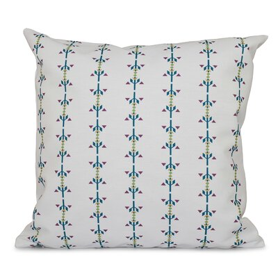 Willa Jodhpur Stripe Print Throw Pillow Size: 18 H x 18 W, Color: Teal