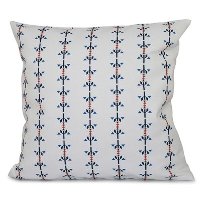 Bridgehampton Stripe Print Throw Pillow Size: 16 H x 16 W, Color: Navy Blue