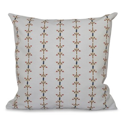 Willa Jodhpur Stripe Print Throw Pillow Size: 26 H x 26 W, Color: Taupe
