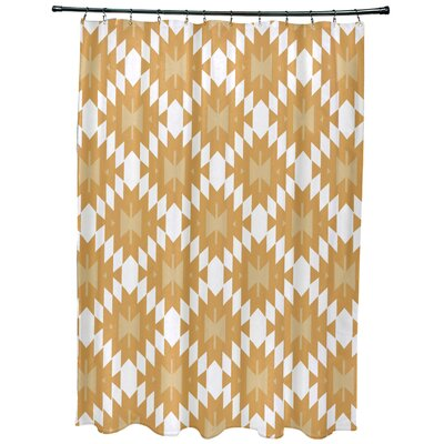 Willa Jodhpur Kilim Geometric Print Shower Curtain Color: Gold