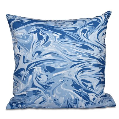 Willa M�lange Geometric Print Throw Pillow Size: 18 H x 18 W, Color: Blue