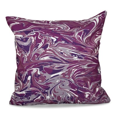 Willa Mélange Geometric Print Throw Pillow Size: 16