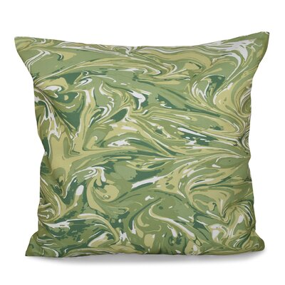 Willa M�lange Geometric Print Throw Pillow Color: Green, Size: 18 H x 18 W