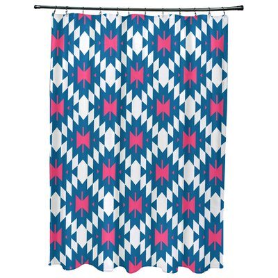 Willa Jodhpur Kilim 2 Geometric Print Shower Curtain Color: Blue