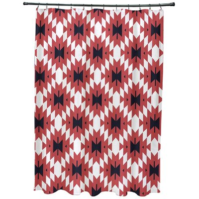 Willa Jodhpur Kilim 2 Geometric Print Shower Curtain Color: Coral