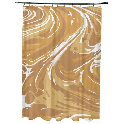 Willa Marble Geometric Print Shower Curtain