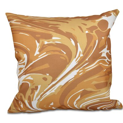 Willa M�lange Geometric Outdoor Throw Pillow Size: 20 H x 20 W, Color: Gold