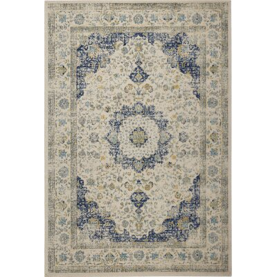 Elson Ivory & Cream Area Rug Rug Size: 51 x 76