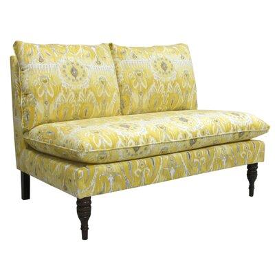 Fontayne Settee Loveseat Upholstery: Alessandra Lemon