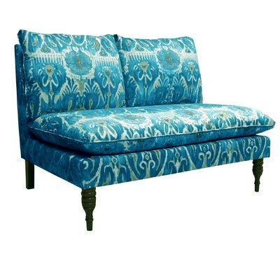 Fontayne Settee Loveseat Upholstery: Alessandra Teal