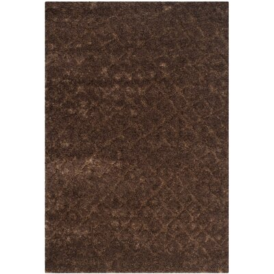 Maimouna Dark Brown Area Rug Rug Size: Rectangle 67 x 96